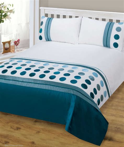 bed covers set teal blue mix colour stylish modern design bedding quality