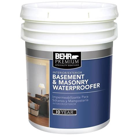 behr paint color underwater behr premium 5 gal basement and masonry waterproofing