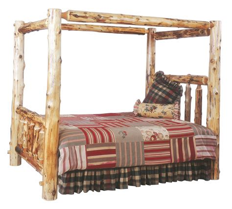 log bed set traditional cedar youth canopy log bedroom set from
