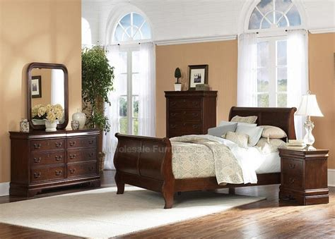 sleigh bedroom furniture sets louis philippe sleigh bed bedroom furniture set by
