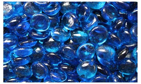 glass bead fireplace 37 on aqua blue glass fo groupon goods