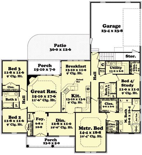 house plans 2400 square european style house plan 4 beds 3 baths 2400 sq ft plan