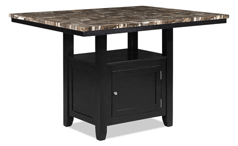 storage dining tables vale counter height dining table with storage the brick