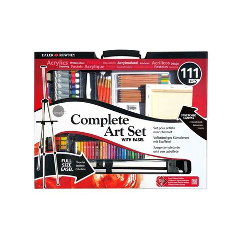 complete sets complete set with easel 111 pieces daler rowney from