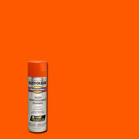 home depot paint colors orange rust oleum professional 15 oz gloss safety orange spray
