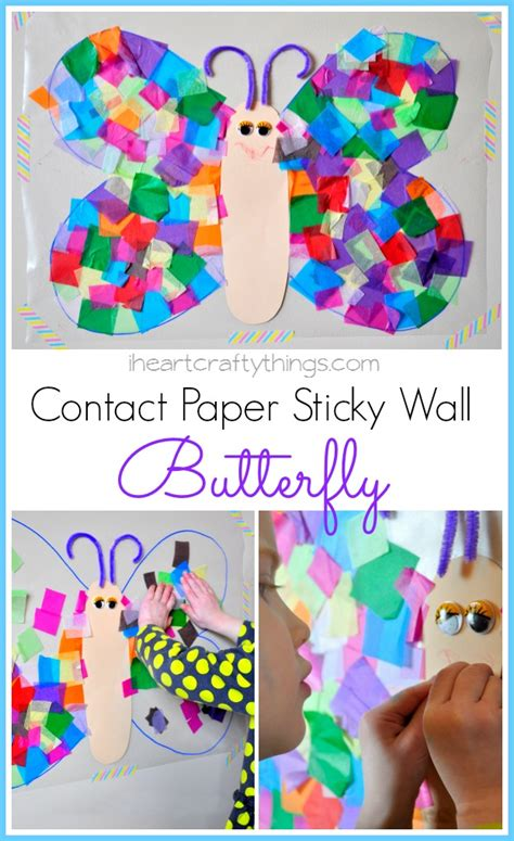contact paper craft i crafty things contact paper sticky wall butterfly