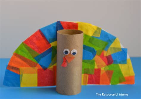 toilet paper turkey craft toilet paper roll turkey kid craft the resourceful