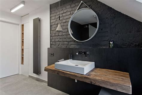 Mirror In Bathroom Ideas by Modern White Apartment With A Wooden Pole That Can Make