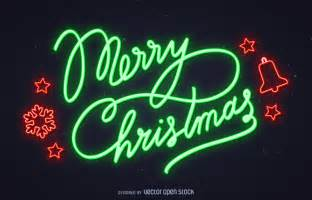 lighted merry sign neon merry sign vector