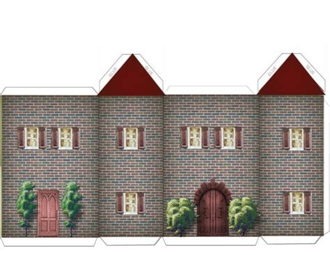 paper houses craft paper crafts home models green and brick house w