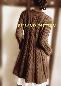 knitting sweater sweater coat knitting pattern pdf cable knit a line coat