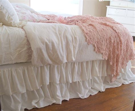 bed dust ruffle shabby chic bedding tiered ruffle dust ruffle bed