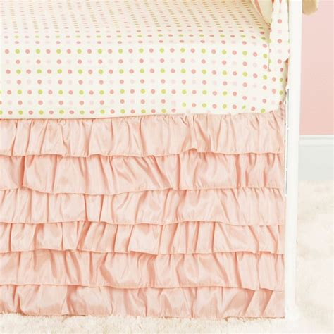 crib bed skirt 1000 ideas about ruffled crib skirts on crib