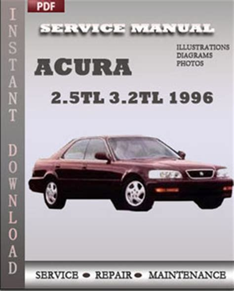 free online car repair manuals download 1996 acura rl instrument cluster acura 2 5tl 3 2tl 1996 free download pdf repair service manual pdf