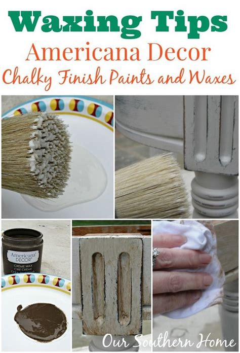 americana chalk paint diy stool makeover waxing tips and chalky paint on