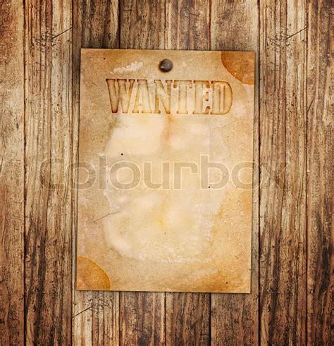 woodworker wanted vintage wanted poster on a wooden wall stock photo