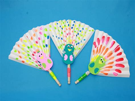 paper craft fan cool this summer with diy peacock paper fans