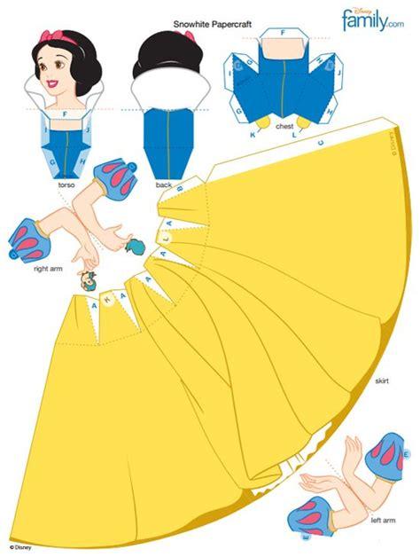 Snow White 3d Papercraft Disney Princess