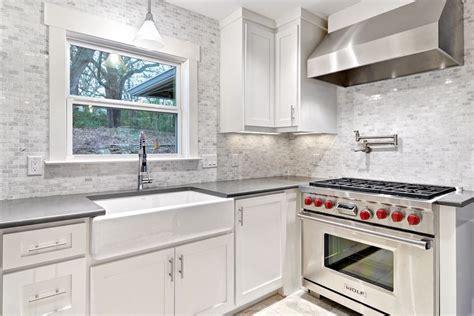 carrara marble kitchen backsplash farmhouse sink with backsplash kitchen eclectic with black