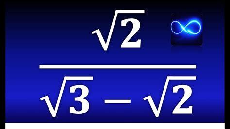 resta de raices cuadradas 16 racionalizaci 243 n del denominador de una fracci 243 n con