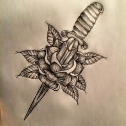 dagger rose tattoo sketch by ranz pinterest tattoo