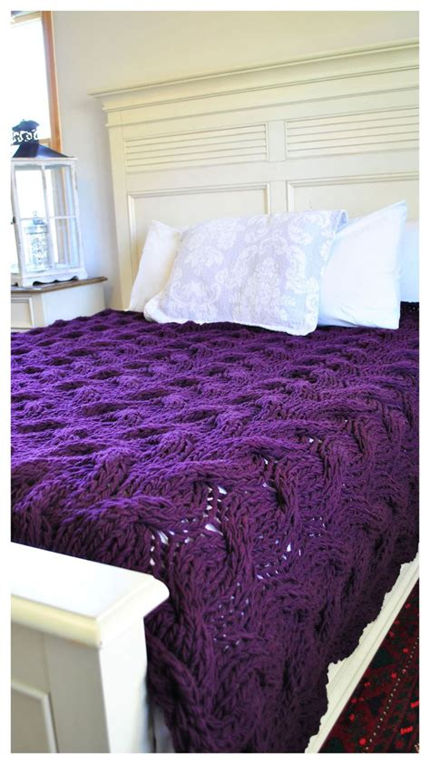 purple cable knit throw 1000 ideas about cable knit blankets on cable