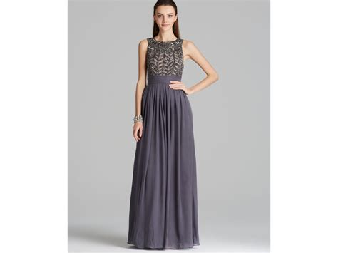 js collections beaded gown js collections beaded bodice chiffon gown gladiator in