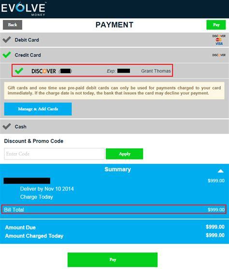 discover credit card make payment evolve money adds discover credit cards as bill pay