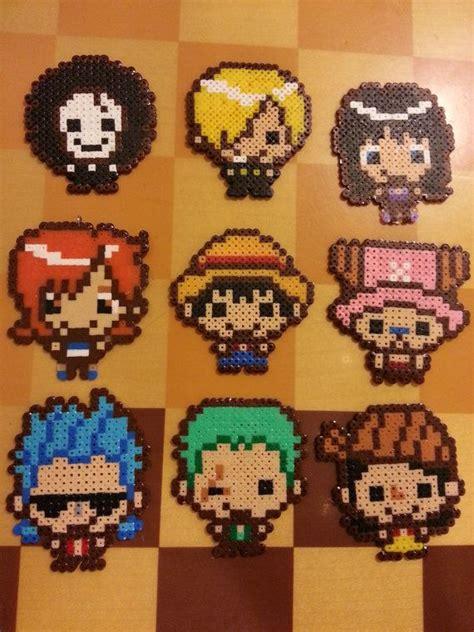 anime hama kawaii chibi one anime characters perler by