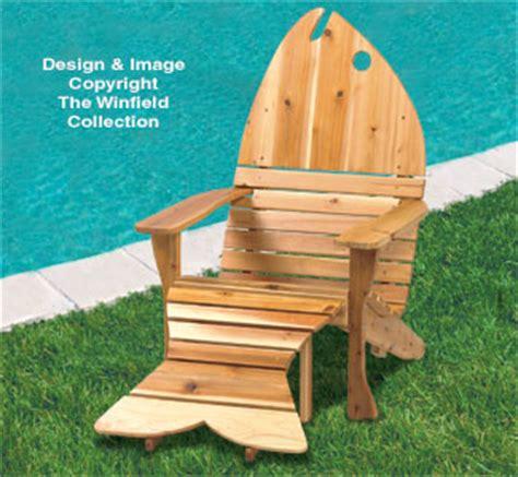 fish adirondack chair plans all yard garden projects adirondack fish chair ottoman