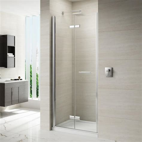 bi fold shower door frameless merlyn 8 series frameless hinged bifold shower door