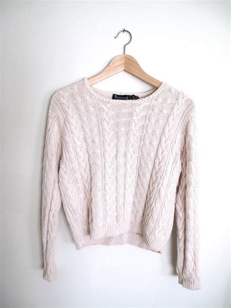 cropped cable knit sweater cropped cable knit sweater m s xs