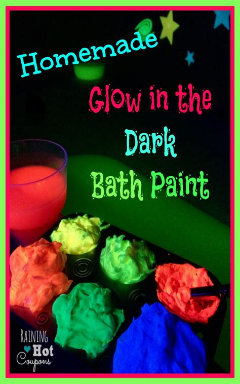 how to make glow in the paint glow in the bath paint