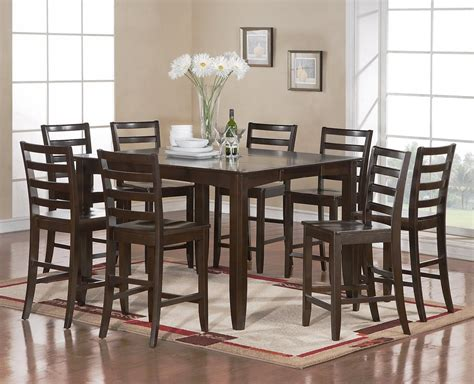 8 seat dining room table sets 9 pc square counter height dining room table with 8 wood