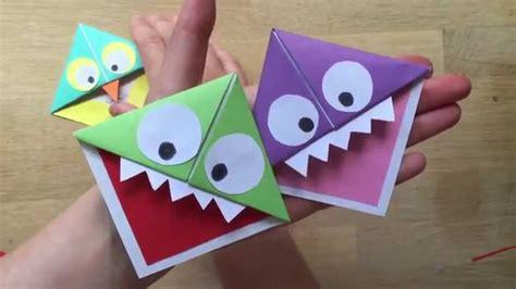 paper craft bookmarks easy paper owl corner bookmarks
