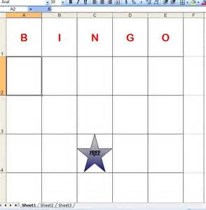 how to make bingo cards in excel how to make bingo cards in excel with pictures ehow