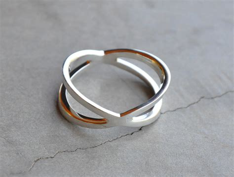 ring x x shaped ring sterling silver rings jo bangles