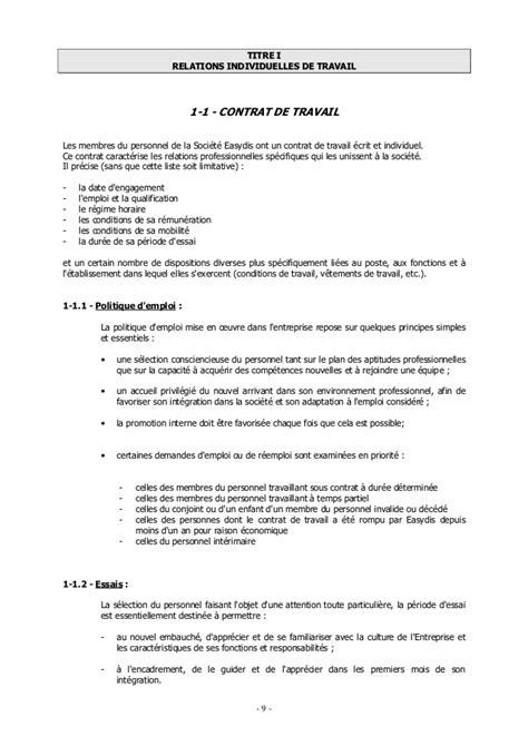 Modification Du Contrat De Travail En by Avenant Contrat De Travail Cdi Gratuit