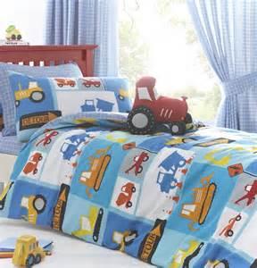 tractor bedding set digger tractor boys bedding quot detour quot duvet cover set
