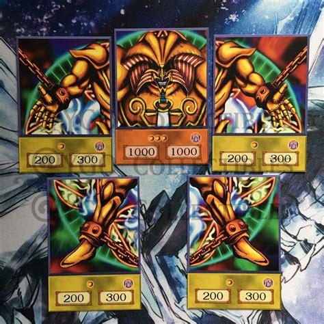 make custom yugioh cards yugioh custom anime orica cards exodia 5 card set ebay