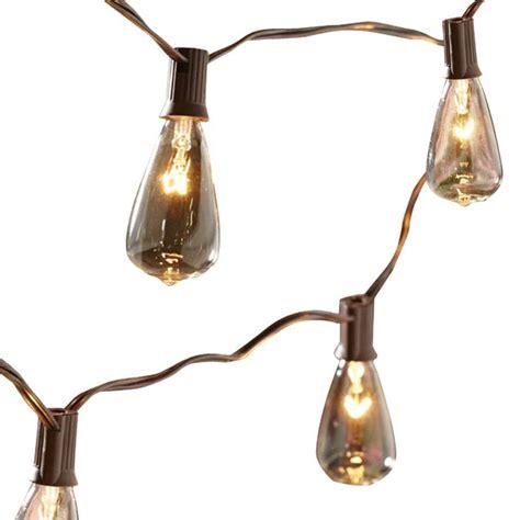 lowes patio lights shop allen roth 14 ft brown indoor outdoor string lights