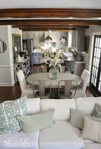 kitchen table in living room best 25 open floor plan living room and dining ideas on