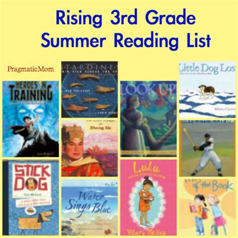 picture books for third graders 3rd grade summer reading list pragmaticmom