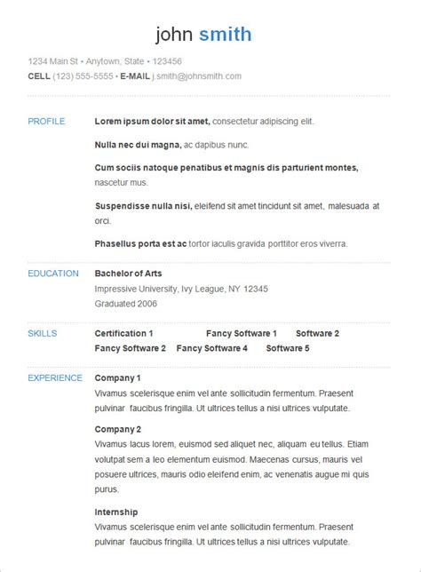 resume exaples basic resume template 51 free samples examples format