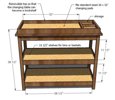baby changing table woodworking plans white simple changing table diy projects