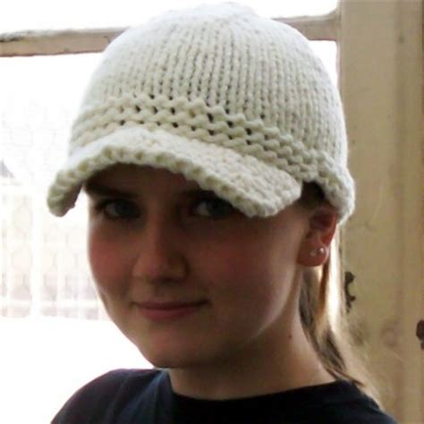 knit hat with brim pattern free free brimmed hat pattern lena patterns