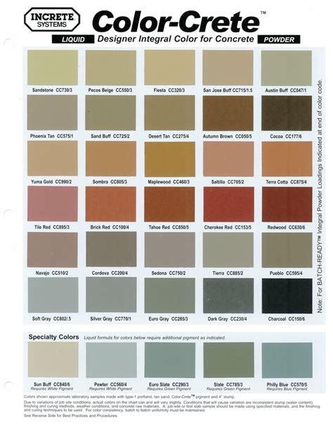 paint colors for concrete scofield concrete color chart images