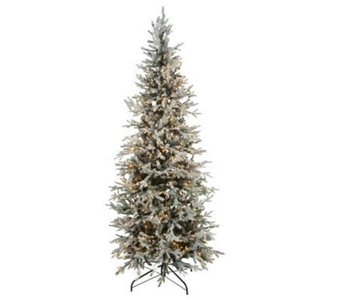 bethlehem lights slim tree bethlehemlights prelit 7 5 flocked tree page