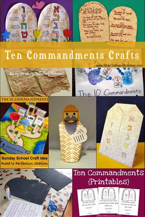 ten commandments craft ideas for 1000 images about church bible moses 10 commandments