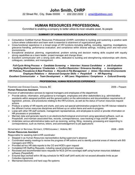 top human resources resume templates amp samples
